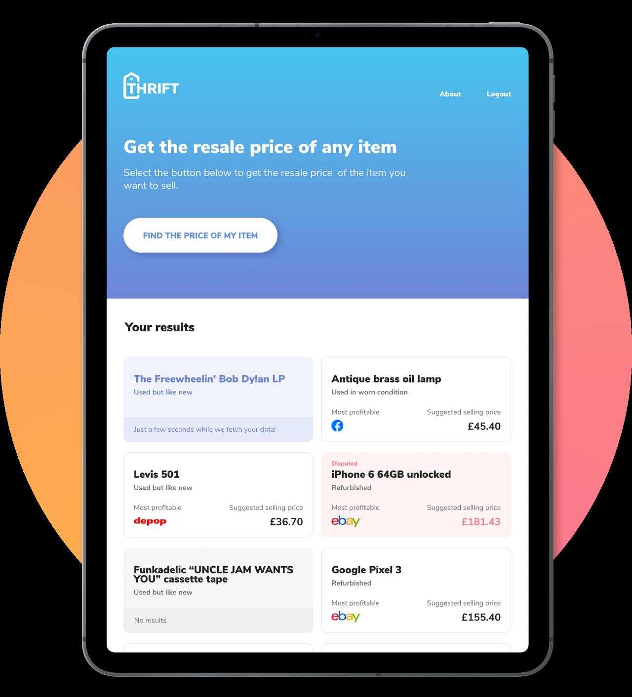 Thrift app